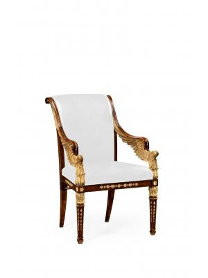Empire Angel Armchair, Upholstered in COM