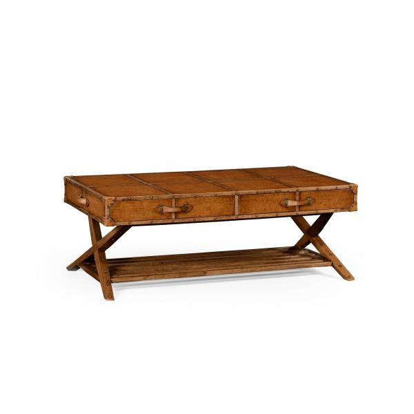 Travel Trunk Style Coffee Table