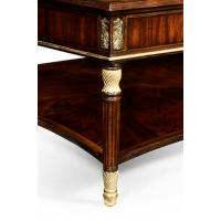 Mahogany William IV style gilded square coffee table